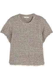 Devan frayed tweed top