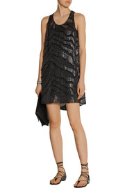 IRO Orelie burnout silk-blend mini dress