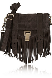 The PS1 Pouch small fringed suede shoulder bag