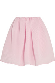 Cotton-blend textured-organza mini skirt