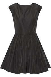 Open-back taffeta mini dress