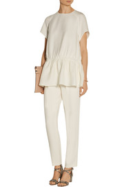 Carven Silk-blend cady top