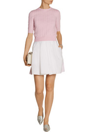 Carven Cotton-poplin skirt
