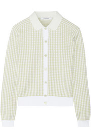 Gingham cotton cardigan