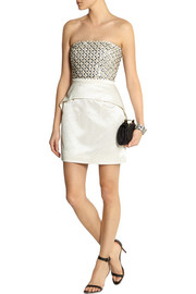 Sass & bide Around The Corner embellished satin-jacquard mini dress
