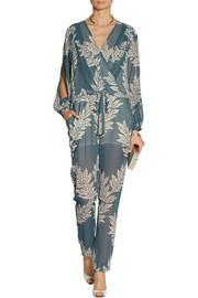 Sass & bide Eye Spy printed georgette jumpsuit