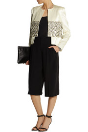 Sass & bide Role Play embellished satin-jacquard jacket