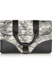Hanne printed leather clutch