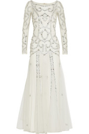 Temperley London Viviana embellished tulle gown