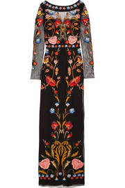 Temperley London Toledo floral-embroidered tulle gown