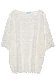 Stephanie cotton-lace coverup