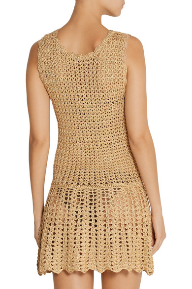 27ac9c87ce Melissa Odabash | Rosie metallic crochet-knit dress | NET-A-PORTER.COM
