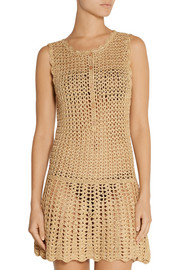 Melissa Odabash Rosie metallic crochet-knit dress