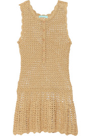 Rosie metallic crochet-knit dress