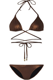 Acapulco metallic triangle bikini