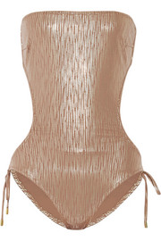 Amalfi printed metallic swimsuit