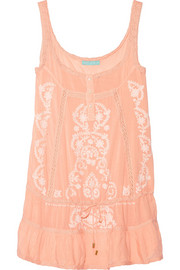 Melissa Odabash Jaz embroidered voile dress