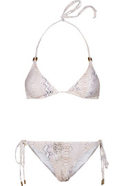 Key West snake-print triangle bikini
