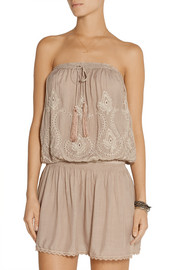 Melissa Odabash Fruley embroidered voile dress