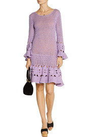 Michael Kors Crocheted cashmere-blend mini dress