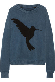 The Elder Statesman Hummingbird-intarsia cashmere sweater