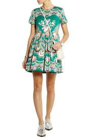 MSGM Printed stretch-cotton faille mini dress