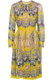 MSGM Printed silk-chiffon dress