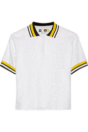 MSGM Cotton-blend lace polo shirt
