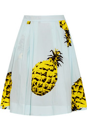 MSGM Printed cotton skirt