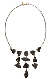 Melissa Joy Manning Sterling silver, 14-karat gold and druzy necklace