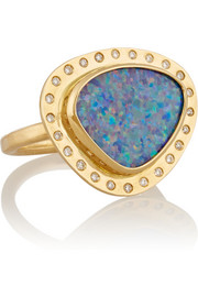 Melissa Joy Manning 18-karat gold, opal and diamond ring