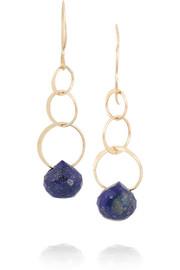 Melissa Joy Manning 14-karat gold lapis lazuli earrings