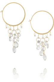 Melissa Joy Manning 14-karat gold topaz hoop earrings