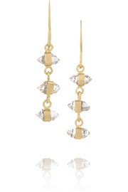 Melissa Joy Manning 14-karat gold Herkimer diamond earrings