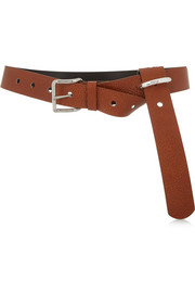 Serva textured-leather belt