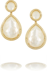 Ippolita Rock Candy 18-karat gold, mother-of-pearl and diamond earrings