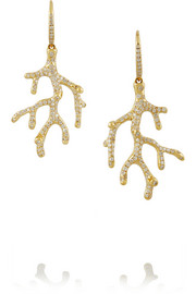 Stardust Reef 18-karat gold diamond earrings