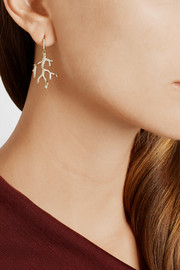 Ippolita Stardust Reef 18-karat gold diamond earrings
