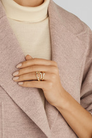 Ippolita Stardust Reef 18-karat gold diamond ring