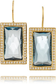 Ippolita Gelato Small 18-karat gold, topaz and diamond earrings