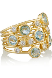 Ippolita Rock Candy Lollipop Constellation 18-karat gold, topaz and diamond ring