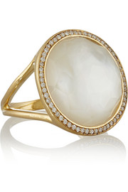 Ippolita Rock Candy Lollipop 18-karat gold, mother-of-pearl and diamond ring