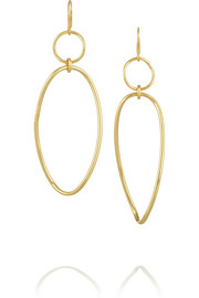 Glamazon Snowman 18-karat gold earrings