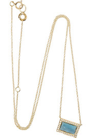 Ippolita Gelato Small 18-karat gold, topaz and diamond necklace