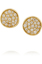 Ippolita Stardust Mini 18-karat gold diamond earrings