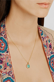 Ippolita Mini Lollipop 18-karat gold, turquoise and diamond necklace