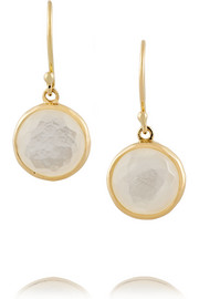 Ippolita Mini Lollipop 18-karat gold mother-of-pearl earrings