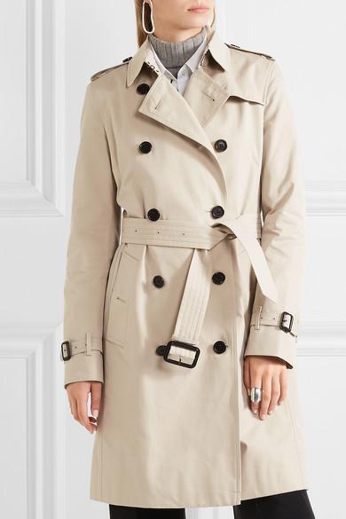 Burberry Kensington langer Trenchcoat aus Baumwoll-Gabardine Billig Verkauf Footaction Sammlungen Zum Verkauf EYCnAKM