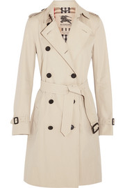 The Kensington Long cotton-gabardine trench coat