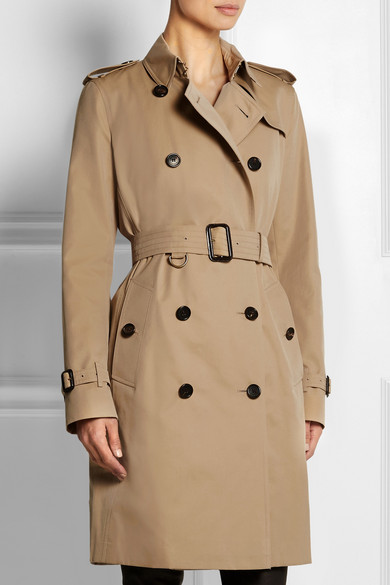 Burberry Kensington langer Trenchcoat aus Baumwoll-Gabardine